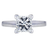 2.12 ct. Princess Cut Solitaire Ring, I, SI2 #1