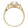 0.82 ct. Round Cut 3 Stone Ring, E, VS2 #4