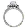 1.00 ct. Round Cut Bridal Set Ring, E, SI2 #3