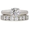 1.05 ct. Round Cut Bridal Set Ring, H, SI1 #3