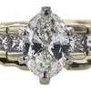 0.76 ct. Oval Cut Bridal Set Ring, G, VS1 #4