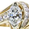 0.92 ct. Marquise Cut Bridal Set Ring, I-J, VS2-SI1 #1