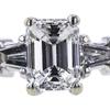 1.22 ct. Emerald Cut Bridal Set Ring, G, VS2 #4