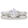 0.78 ct. Round Cut Bridal Set Ring, E, VS2 #3