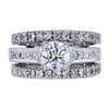 0.83 ct. Round Cut Bridal Set Ring, E, VS2 #1