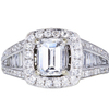 1.01 ct. Emerald Cut Halo Ring, E, VS1 #3