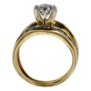 1.19 ct. Round Cut Bridal Set Ring, G, I1 #3