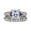 1.30 ct. Cushion Cut Bridal Set Ring, G, SI2 #3