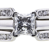 0.85 ct. Princess Cut Bridal Set Ring, G, VS1 #4