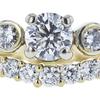 0.70 ct. Round Cut Bridal Set Ring, E, I1 #4