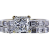 1.07 ct. Princess Cut Bridal Set Ring, F, SI1 #3