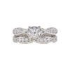 0.85 ct. Round Cut Bridal Set Tacori Ring, G, I1 #3