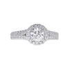 0.77 ct. Round Cut Halo Ring, F, SI2 #3