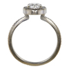 0.98 ct. Round Cut Halo Ring, D, SI2 #4