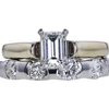 1.00 ct. Emerald Cut Bridal Set Ring, I, VS2 #3
