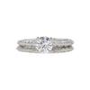 0.69 ct. Round Cut Bridal Set Tacori Ring, E, VVS2 #3