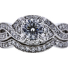 0.74 ct. Round Modified Brilliant Cut Bridal Set Ring, H, SI2 #3