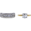 1.48 ct. Round Modified Brilliant Cut Bridal Set Ring, I, I1 #3