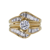 0.96 ct. Round Cut Bridal Set Ring, D, SI2 #4
