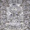 0.91 ct. Modified Cushion Cut Bridal Set Ring, E, VS2 #4