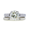 1.44 ct. Round Cut Bridal Set Ring, M-Z, I1 #4
