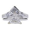 1.19 ct. Trilliant Cut Bridal Set Ring, H, SI2 #3