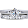 0.66 ct. Round Cut Bridal Set Ring #3