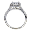 1.52 ct. Princess Cut Halo Ring, D, SI2 #2