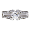 1.2 ct. Round Cut Bridal Set Ring, G, SI2 #3