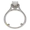 0.81 ct. Pear Cut Halo Ring, E-F, SI1 #2