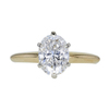 1.12 ct. Oval Cut Solitaire Ring, G, SI1 #3