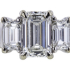 1.03 ct. Emerald Cut Bridal Set Ring, H, SI1 #4