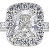 0.93 ct. Cushion Cut Bridal Set Ring, H-I, I1 #2