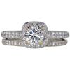 0.63 ct. Round Cut Bridal Set Ring, H, VS2 #3
