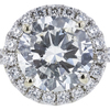 1.73 ct. Round Cut Halo Ring, I-J, I3 #1