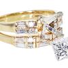 1.21 ct. Princess Cut Bridal Set Ring #3