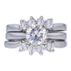 1.04 ct. Round Cut Bridal Set Ring, H, I1 #2