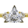 0.96 ct. Trilliant Cut Bridal Set Ring, E, VS2 #2