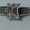 1.05 ct. Emerald Cut Solitaire Ring #1
