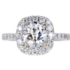 1.01 ct. Round Cut Halo Ring, I, SI2 #3