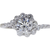 0.91 ct. Round Cut Ring, H, SI2 #3