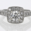 Art Deco .70 ct. Round Cut Halo Ring #2