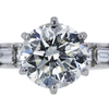 1.45 ct. Round Cut Bridal Set Ring, I-J, I1 #2