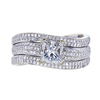 0.95 ct. Princess Cut Bridal Set Ring, F-G, SI2-I1 #2