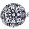 1.40 ct. Round Cut Central Cluster Ring, F, VVS1 #4