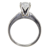 1.04 ct. Round Modified Cut Solitaire Ring, F, SI2 #4