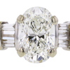 1.06 ct. Oval Cut 3 Stone Ring, J, SI1 #4