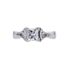 1.04 ct. Princess Cut 3 Stone Ring, G, I1 #3