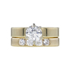 1.01 ct. Round Cut Bridal Set Ring, I, I1 #3