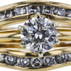 1.19 ct. Round Cut Bridal Set Ring, G, I1 #2